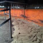Neuer Sand für die Führmaschine